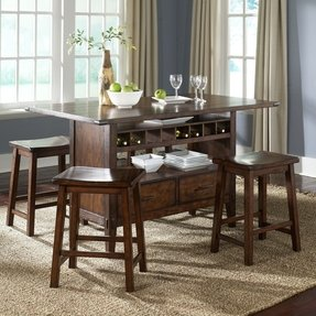 Dining table with wine storage 18