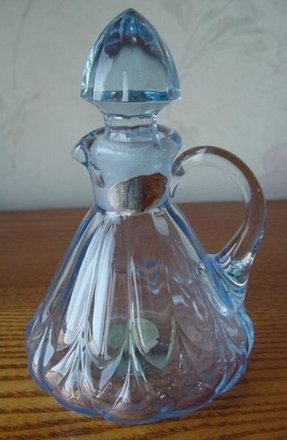 Glass oil and vinegar cruet 9