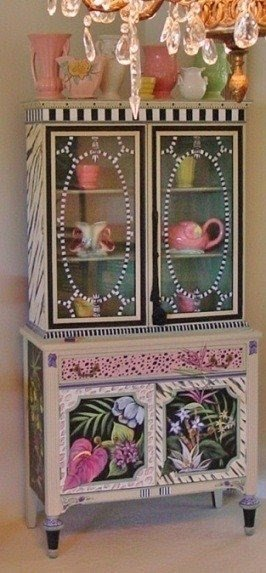 Hand Painted Cabinet 8