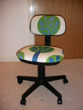 How to reupholster a swivel chair