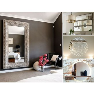 Large mantel mirror