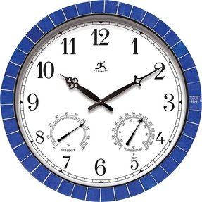 Outdoor Wall Clock With Thermometer Foter