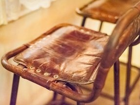 Leather bar stools with backs 1