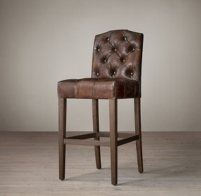 Leather bar stools with backs 2