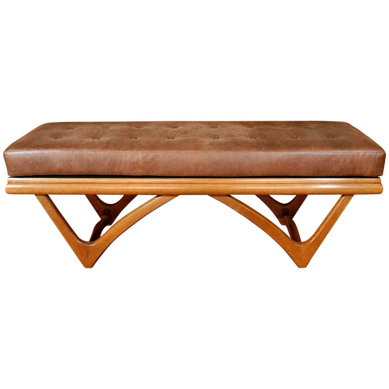 Leather Tufted Bowtie Bench Adrian Pearsall