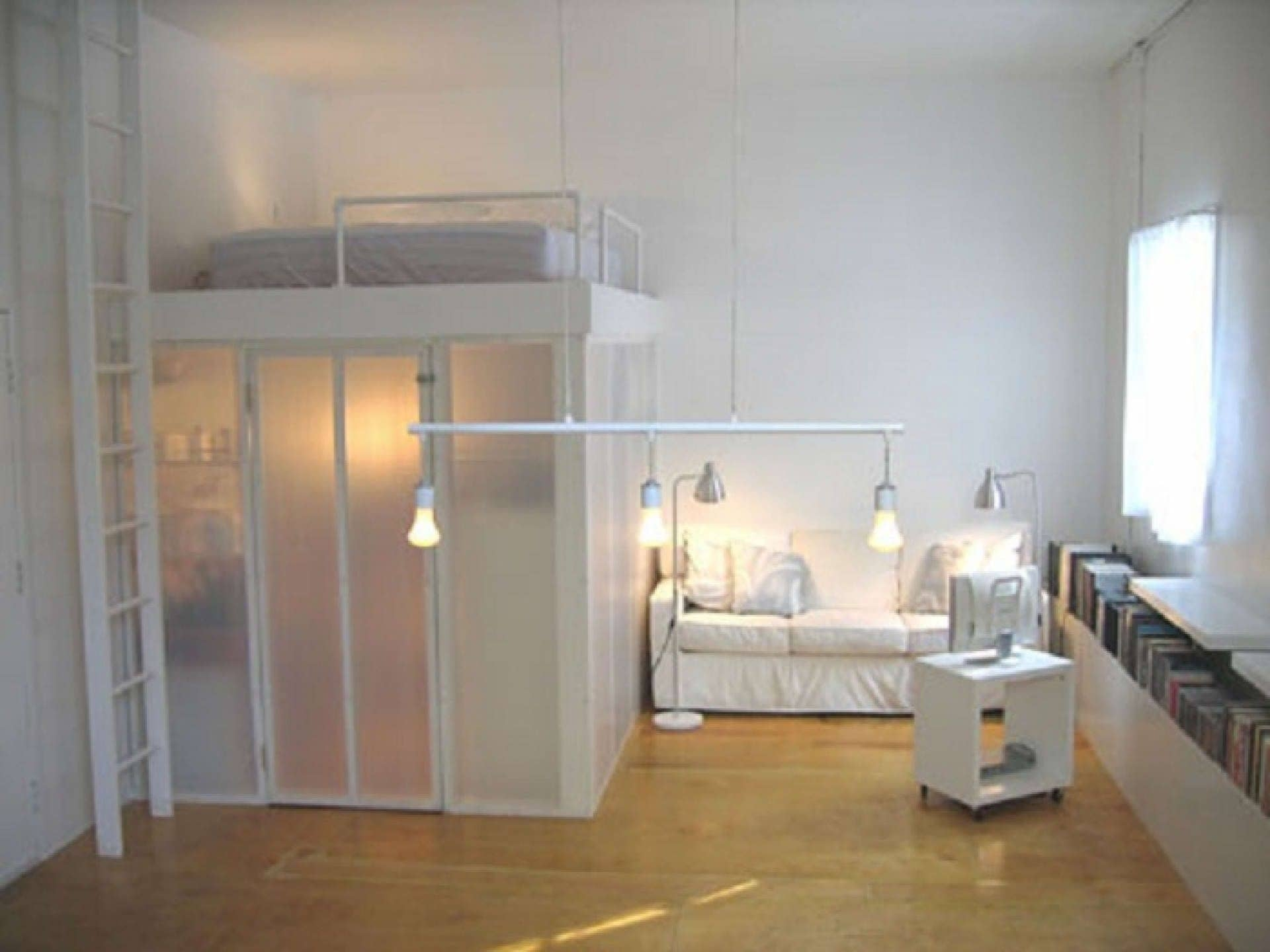 Beau This Project Features A Unique Loft Bed Idea, Which Located The Queen Bed  Above A Glazed Space, Which Can Be Used In Endless Ways   Either To Place  There A ...