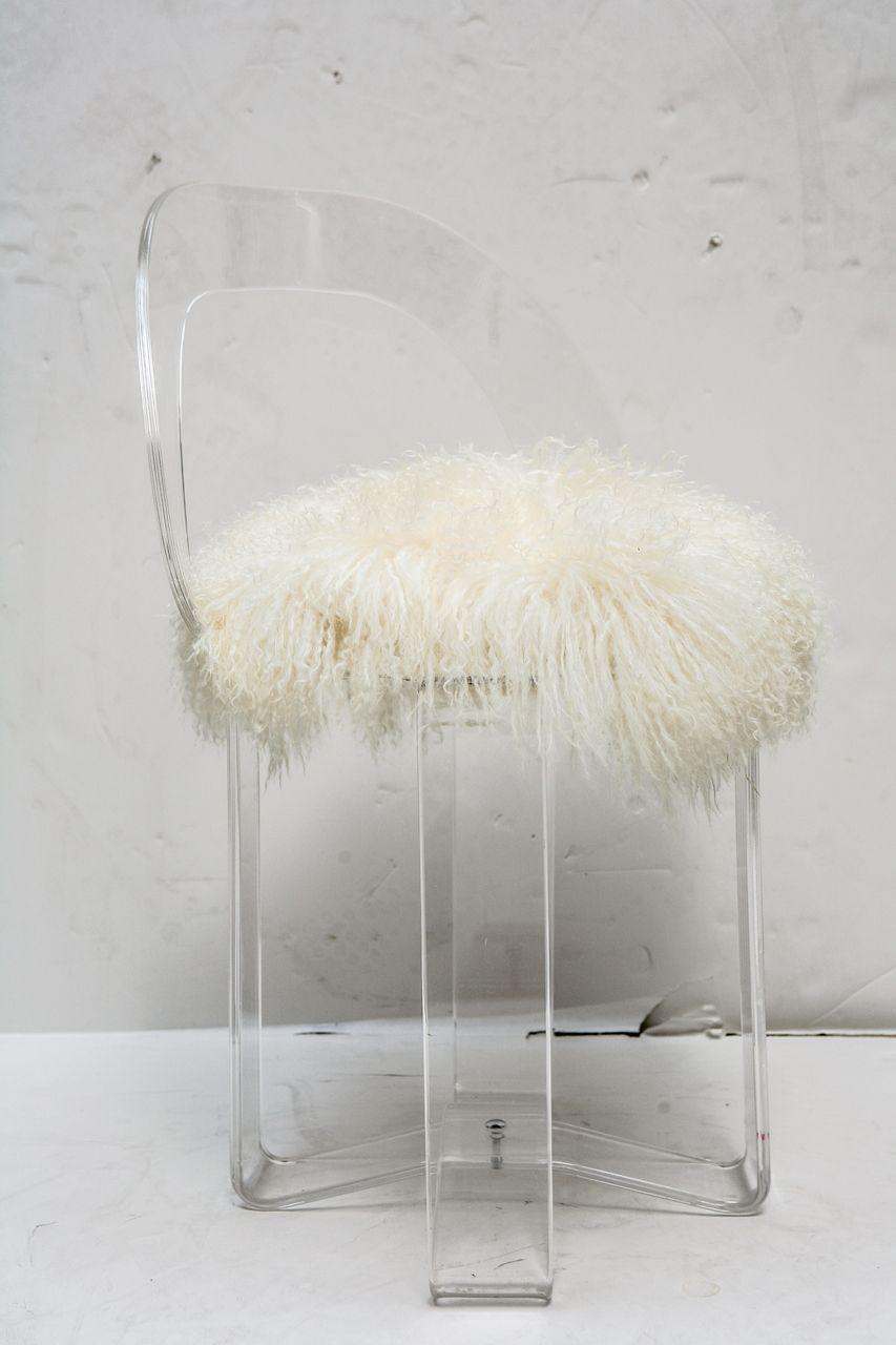 Ordinaire Mid Century Modern Acrylic Vanity Chair