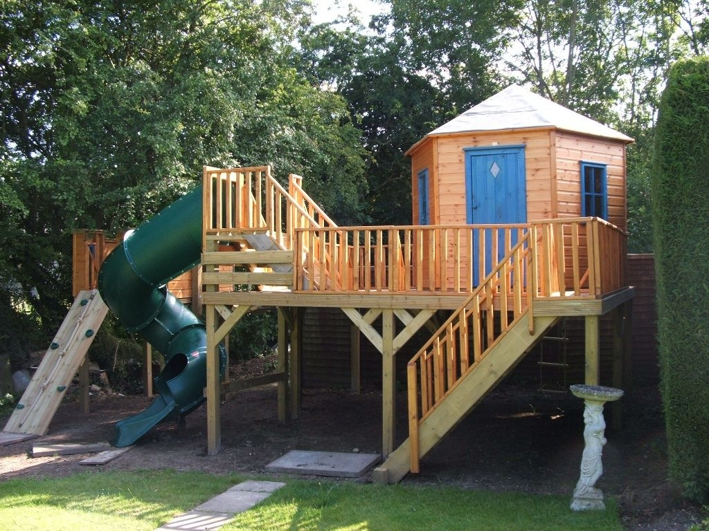 Outdoor Wooden Pirate Ship Playhouse