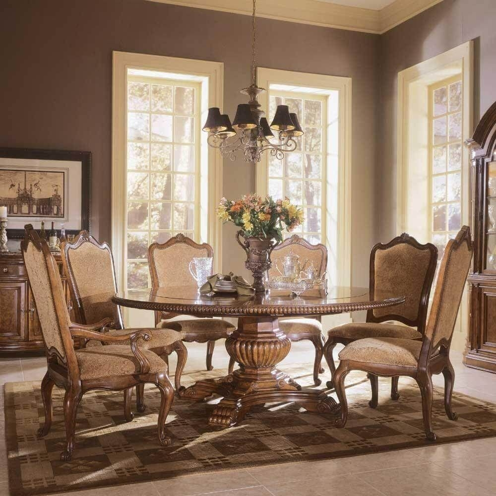 Round Dining Room Table With Leaves 2