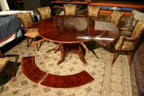 Round dining room table with leaves 6