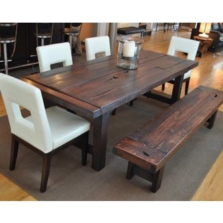Heavy Duty Commercial Dining Chair Rustic Distressed Tables