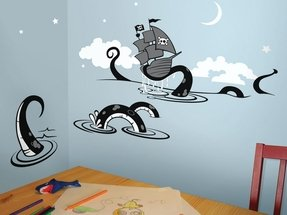Sea creature octopus wall decal children