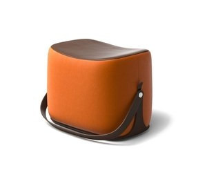 Small leather chairs with ottomans 12