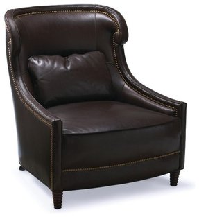 Small leather chairs with ottomans 2