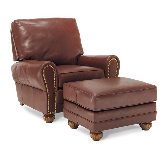Merveilleux Small Leather Chairs With Ottomans 8