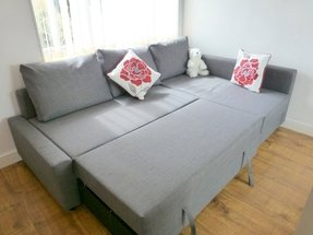 Sofa bed with storage drawer