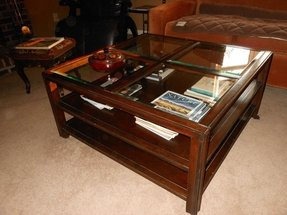 Square Wood And Glass Coffee Table Foter