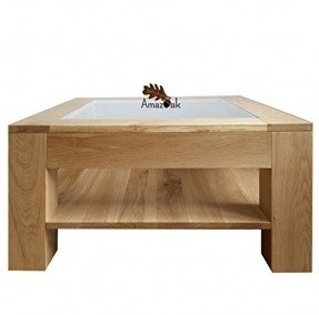Square Wood And Glass Coffee Table 5
