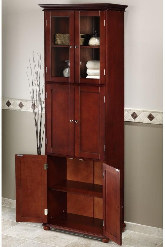 Perfect Tall Linen Storage Cabinet 6