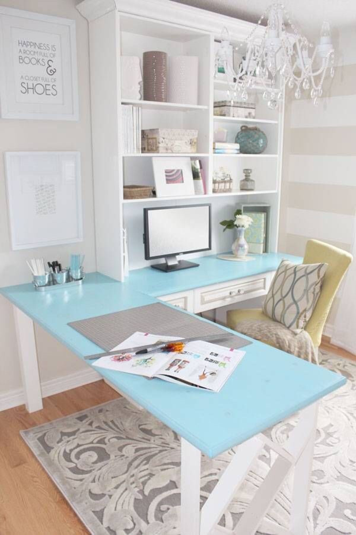 Modern White Computer Desk Collection