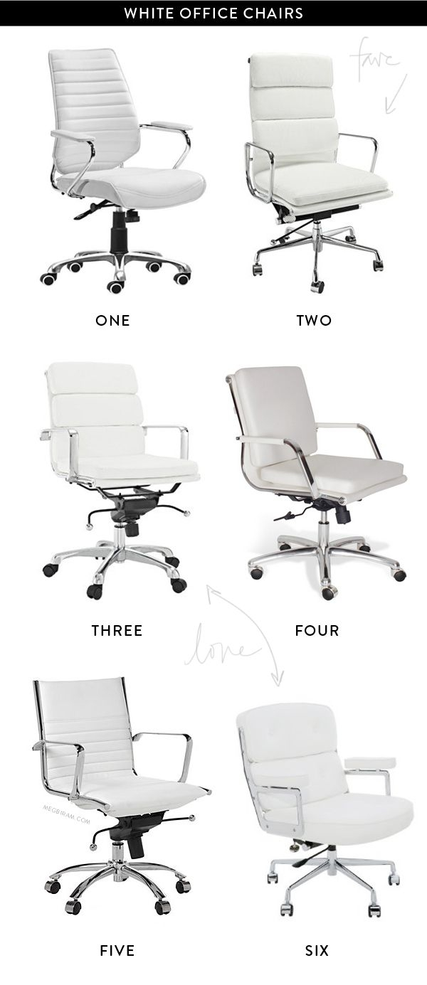 White office chairs 1 & White Office Chairs - Foter