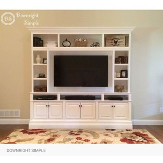 White wall units and entertainment centers 1