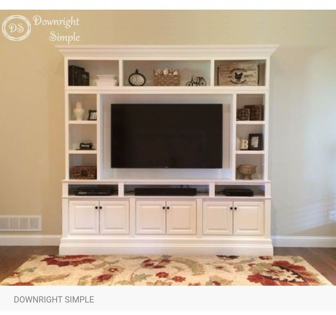 Amazing White Wall Units And Entertainment Centers 1