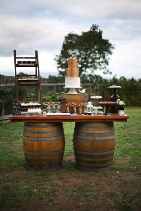 Wine buffet table 3