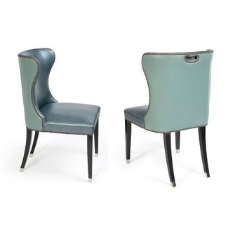 Wing back dining chairs 3