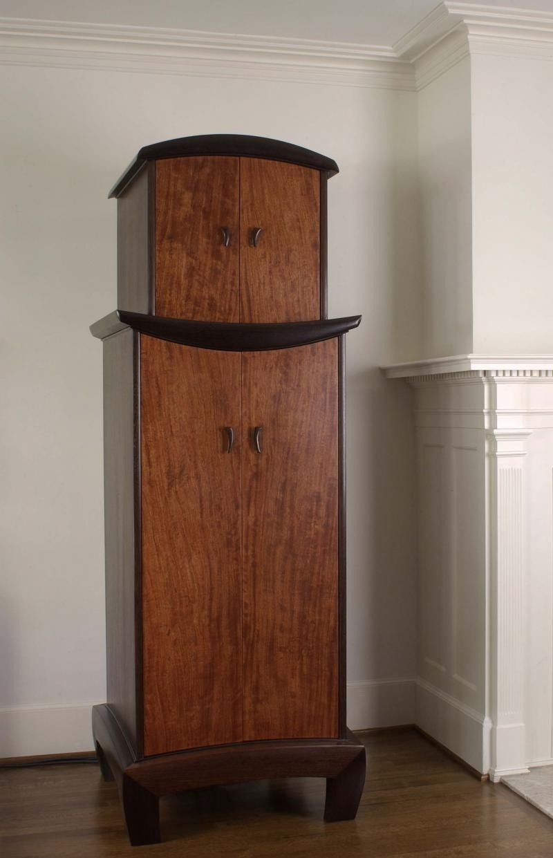 Wood Stereo Cabinet 2