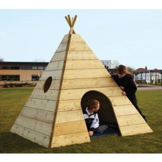 Wooden teepee playhouse