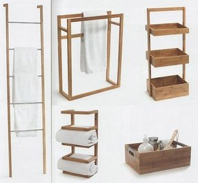 Wooden towel rails