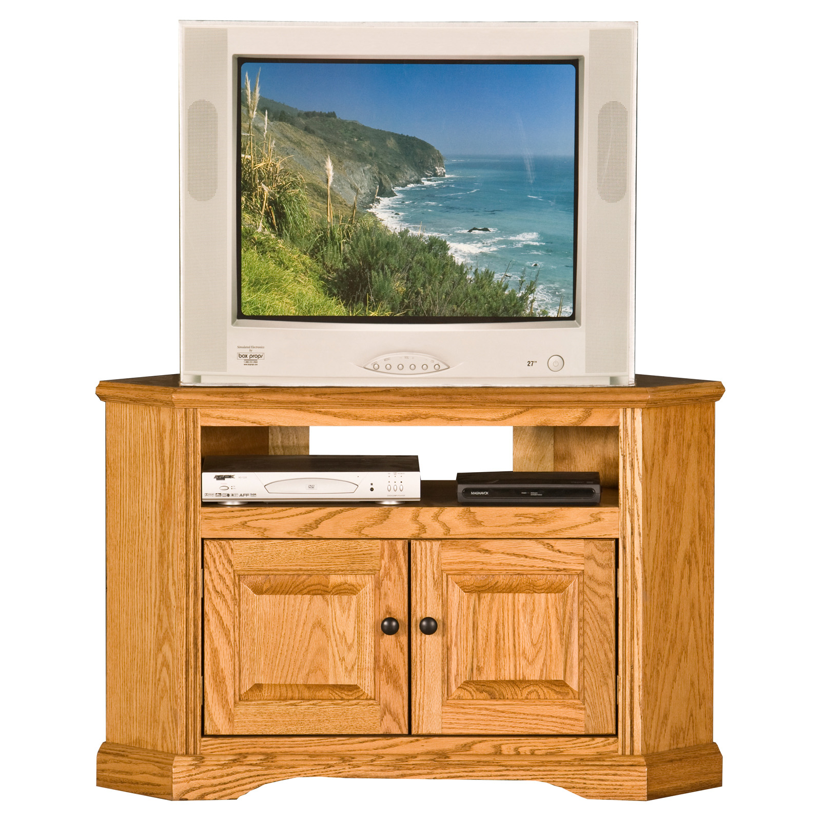 Black Corner Tv Cabinet With Glass Doors