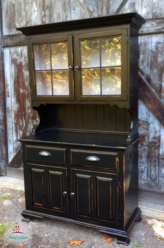 Black Dining Room Hutch 3
