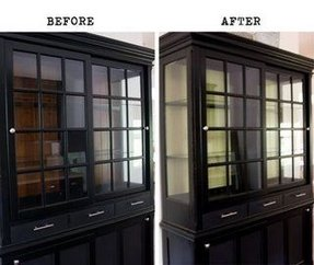 Black Dining Room Hutch