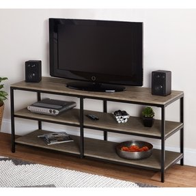 Black metal tv stands