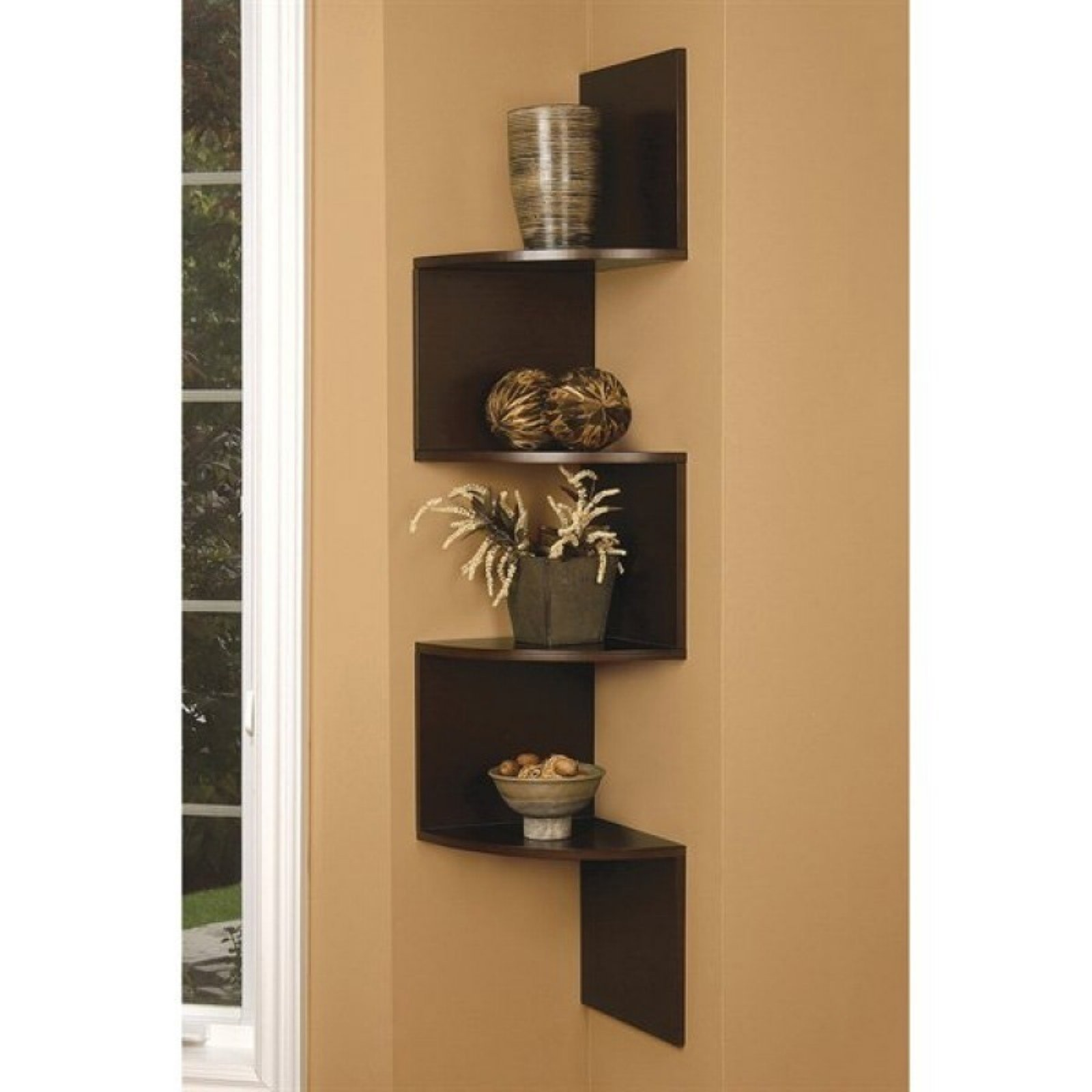 Merveilleux Corner Shelves Living Room