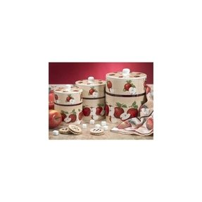 Country canister sets for kitchen