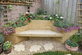 Deck Planter Bench