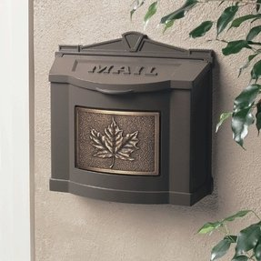 Decorative wall mounted mailboxes 22