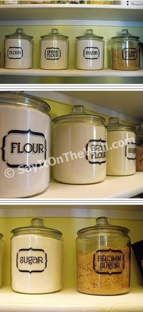 Flour sugar canisters 1
