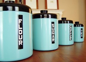 Flour sugar canisters 18