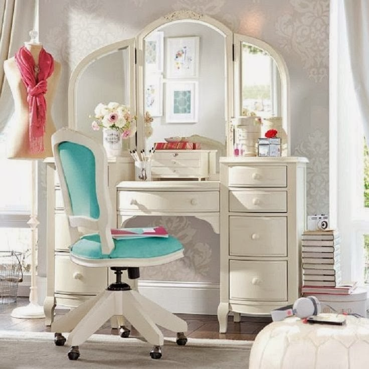 Girls Desk Vanity 18