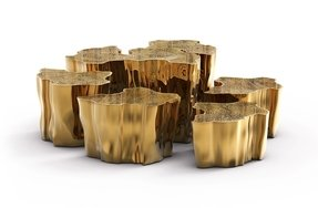 Gold coffee tables 3