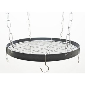 Gourmet Round Hanging Pot Rack with Grid