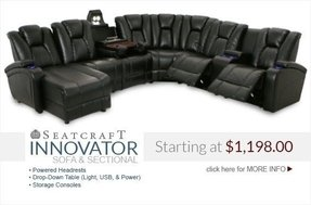 Home theater sectional seating 3