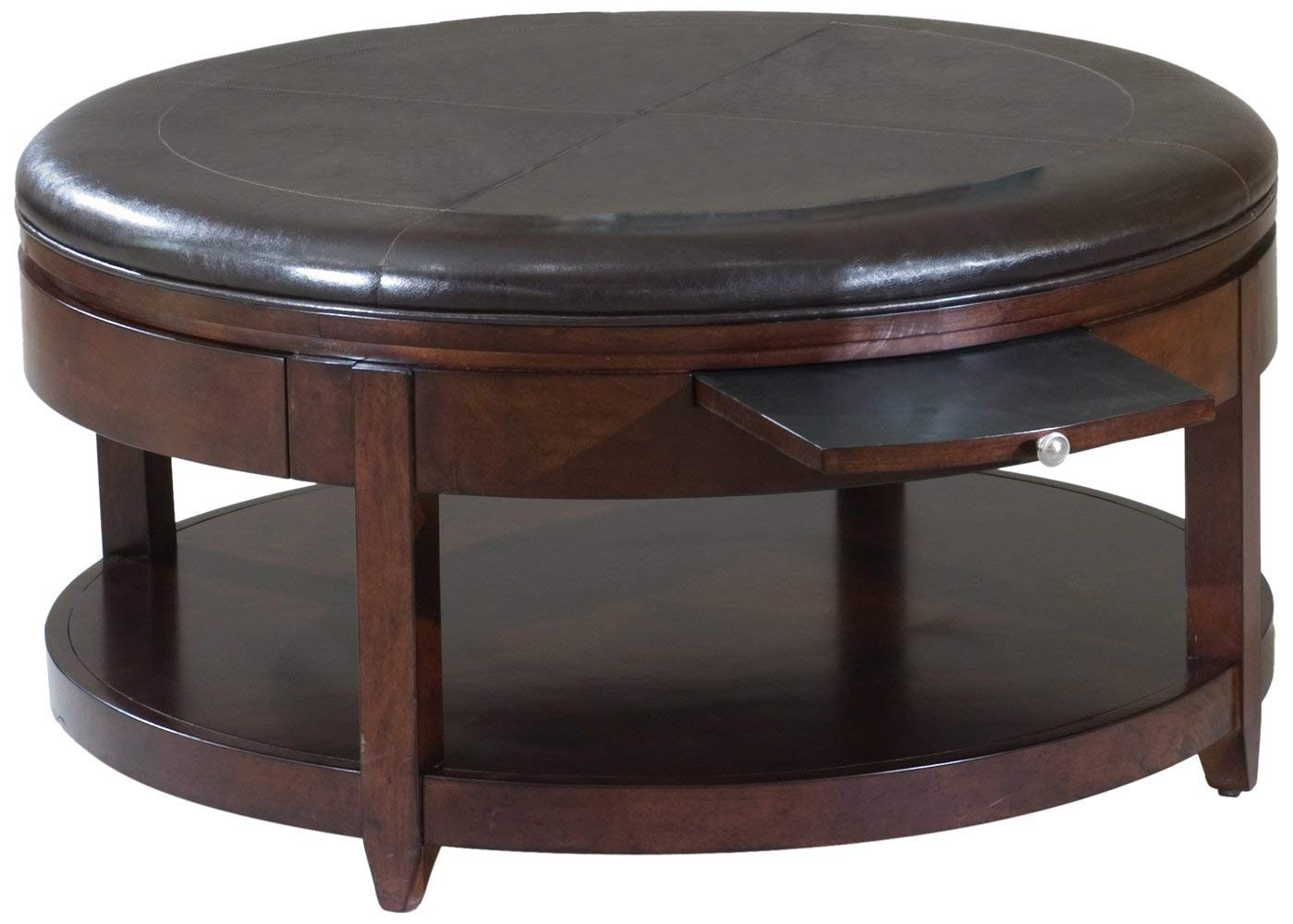 Awesome Leather Coffee Table