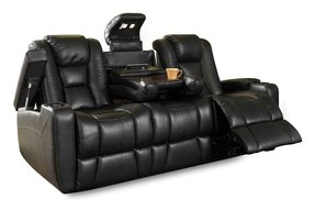 Leather recliners with cup holders 3