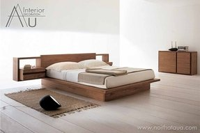 Low profile wooden bed frame