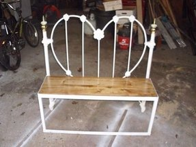 Groovy Metal Bed Bench Ideas On Foter Onthecornerstone Fun Painted Chair Ideas Images Onthecornerstoneorg